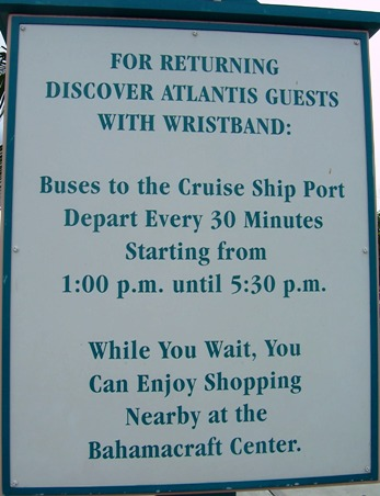 Paradise Island shuttle to cruise ships