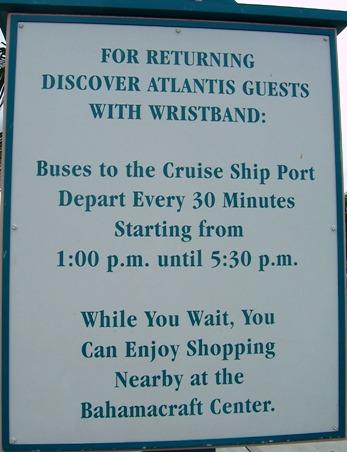 Paradise Island shuttle to cruise ships