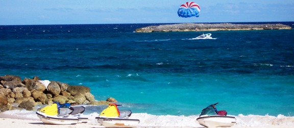 Paradise Island parasailing and jet skis