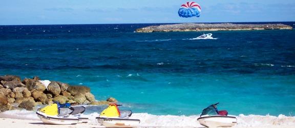 Paradise Island parasailing and jet skis